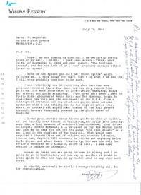 ARCHIVE consisting of 1 AUTOGRAPH LETTER SIGNED (ALS) and 4 TYPED LETTERS SIGNED (TLSs) to Senator Daniel Patrick Moynihan