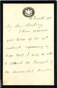 Letter signed by Joseph Chamberlain (1836-1914).