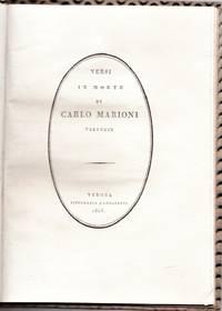 Versi in morte di Carlo Marioni Veronese.
