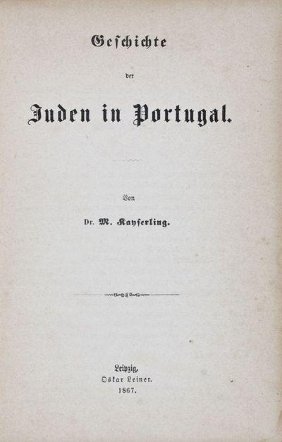 Leipzig: Oskar Leiner, 1867. First edition. Hardcover. fair. Octavo. XI, , 367, pp. Original half le...