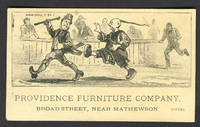 image of Providence Furniture Company.  Anti Chinese and Anti Irish trade card