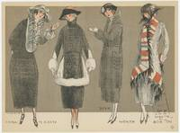 Fashion illustration from la Mode pour l'Automne 1920. Dessinee par Simeon.