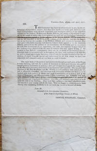 Printed Circular Letter Concerning the Nomination of Stephen Van Rensselaer and James Watson as the Federal Republican Candidates in the New York State Gubernatorial Election of 1801