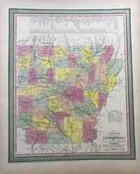 A NEW MAP OF ARKANSAS with its canals roads & distances