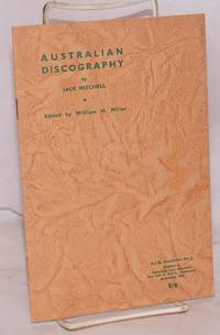 Australian discography; edited by William H. Miller