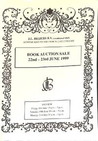 Sale 22-23 June 1999: Books and Prints Inter Alia the Fine Art Library of  the Late Prof. Dr. J.H.Plokker, a Collection of English and American  Crime, Horror, and Science Fiction, 19th Century Books on Psychology and  Psychiatry, Old Medical Books, ...