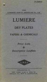LUMIERE DRY PLATES, PAPERS & CHEMICALS. PRICE LISTS & DESCRIPTIVE LEAFLETS.; [cover title]