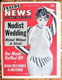 image of Wife Charges Private Eye Raped Her. Article in Inside News. the Lowdown Around the World, Jan. 7, 1968. (Sleaze Newspaper).