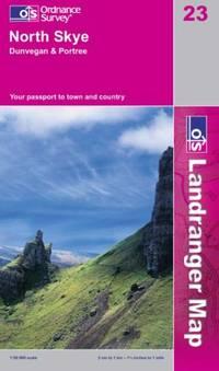 image of North Skye, Dunvegan and Portree (Landranger Maps)