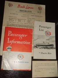 image of S.S. Puerto Rico, Passenger Information, Passenger List, Bull Lines Broadcasts, motion sickness card