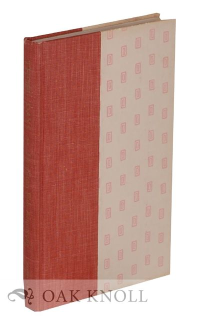 New York, NY: Harper & Row, 1963. half cloth, decorated paper-covered boards, top edge cut, other ed...