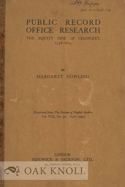 London, England: Sidgwick & Jackson, 1932. self paper wrappers. 8vo. self paper wrappers. 16 pages. ...