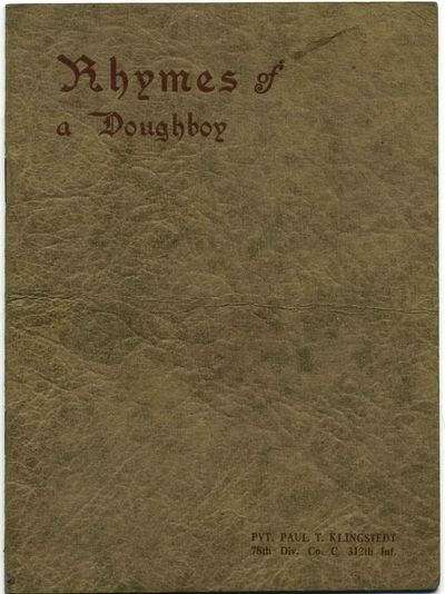 Canton, OH: DeVinne Press, 1920. Book. Very good+ condition. Paperback. Signed by Author(s). First E...