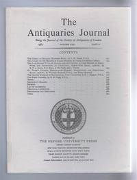 The Antiquaries Journal, Being the Journal of The Society of Antiquaries of London, Volume LXII, 1982, Part II