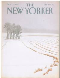 image of NEW YORKER: COVER FIELD IN WINTER by GRETCHEN DOW SIMPSON