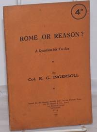 image of Rome or Reason? A Reply to Cardinal Manning