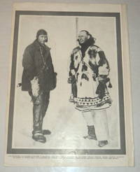 image of A vintage magazine photographic illustration of the AMERICAN AVIATOR CARL BEN EIELSON, in whose honor Alaska's Eielson Air Force Base is named, pictured with the Polar Explorer George Hubert Wilkins.