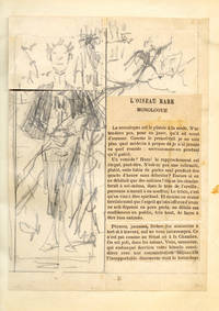 Articles de journaux illustrés de croquis originaux. Album of original pencil drawings