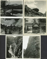 """""""A Collection of Choice Views of the Cody Road to Yellowstone Park"""". 12 sheets with 24 real photographs of Yellowstone Park by  F. J.  Yellowstone Hiscock - 1920 - from Antipodean Books, Maps & Prints and Biblio.com"""