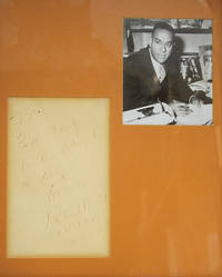 """Autograph sentiment signed (""""Richard Wright"""") to Bill Targ"""
