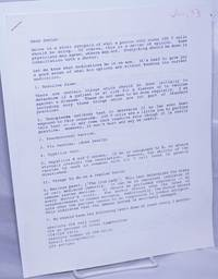 image of Letter to a care-giver about treatments for AIDS