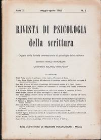 Rivista di psicologia della scrittura XI No 2 1965