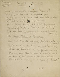 "Autograph manuscript draft, signed (""Max""), Sonnet to W.S. June 1914"