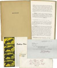 """Brakhage"""" in Film-Makers' Cinematheque Monograph Series No. 2, with typed note signed from Jane Brakhage"""