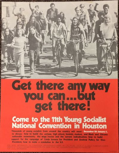 New York: Young Socialist Alliance, 1971. 17x22 inch poster, some edgewear, minor edge stain.