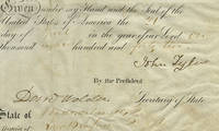 President John Tyler and Secretary of State Daniel Webster Sign a Ship's Passport for a Famous New Bedford Whaler The ship had previously undertaken to transport Napoleon's brother to the United States