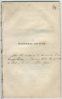 Inaugural lecture delivered in the common hall of the University of Glasgow, November the sixth, 1821.