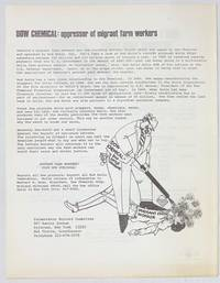 image of Dow Chemical: oppressor of migrant farm workers / Don't buy lettuce without this label [handbill]