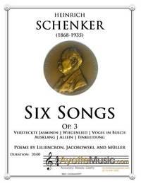 Six Songs, op. 3