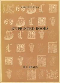 175 Printed Books: Catalogue 103