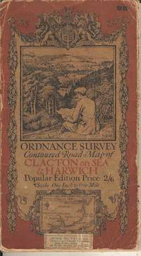 Ordnance Survey Contoured Road Map of Clacton-on-Sea & Harwich  Sheet 98.  Popular Edition.  Scale One Inch to One Mile