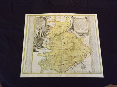 Engraved double page map (23 1/2