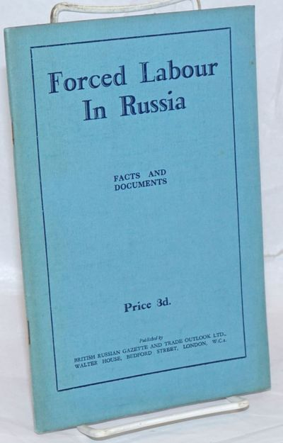 London: British Russian Gazette & Trade Outlook Ltd, 1931. Pamphlet. 46p., stapled wraps, 5.5 x 8.5 ...