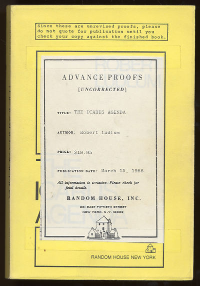 New York: Random House, 1988. Softcover. Near Fine. First edition. Uncorrected Proof. Near fine in l...