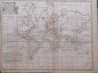 A NEW & ACCURATE CHART OF THE WORLD DRAWN FROM AUTHENTIC SURVEYS ASSISTED BY THE MOST APPROVED MODERN MAPS & CHARTS & REGULATED BY NUMEROUS ASTRON.L OBSERVATIONS. WHEREON ARE DESCRIBED LINES SHEWING THE VARIATION OF THE MAGNETICAL NEEDLE ACCOR