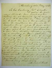 AUTOGRAPH LETTER SIGNED TO ALABAMA GOVERNOR SHORTER, AGREEING THAT RAISING A COMPANY OF EXEMPTS IS NECESSARY FOR PROTECTION AGAINST INSURRECTIONARY MOVEMENTS AND PROPOSING TO RAISE A COMPANY OF HORSEMEN FOR HOME PROTECTION.