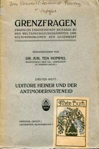 Uditore Heiner und der Antimodernisteneid.