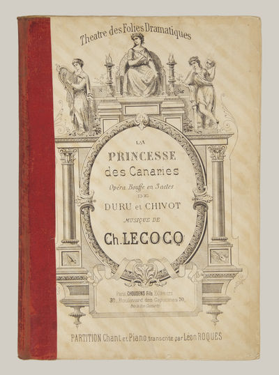 Paris: Choudens Fils , 1890. Large octavo. Red cloth spine. 1f. (recto title printed within architec...