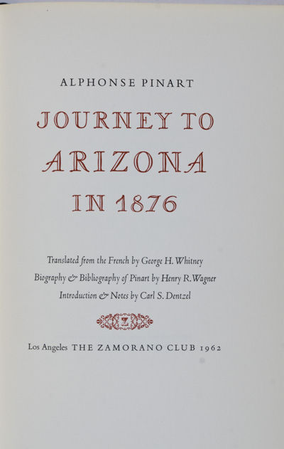 Los Angeles: The Zamorano Club, 1962. Limited ed. Hardcover. g. 8vo. xi. 48pp. Translated from the F...