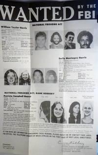 Vintage original FBI WANTED POSTER Patty Hearst / Harris Apr 10, 1975