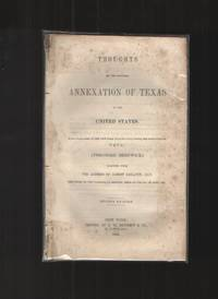 Thoughts on the Proposed Annexation of Texas to the United States