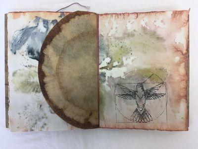 Cambridge, MA: Double Dutch Design, 2019. Unique artist's book on handmade Abaca paper, eco prints o...