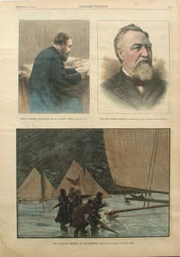 The Ice Yacht Regatta at Poughkeepsie; Thomas Chenery, Late Editor of the London Times; Late Thomas Kinsella, a full page spread from Harper's Weekly
