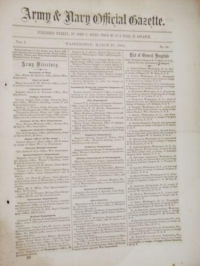 Washington: John C. Rives. Folio. Vol. 1, No. 39, pp. 610-622 describe in detail the Iuka-Corinth ca...