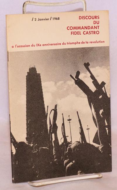 Havana: Instituto del Libro, 1968. 29p., staplebound pamphlet, very good.