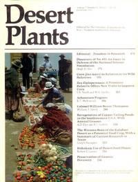 Desert Plants (Volume 2, Number 4 Winter 1981-82 - Issued June, 1982)
